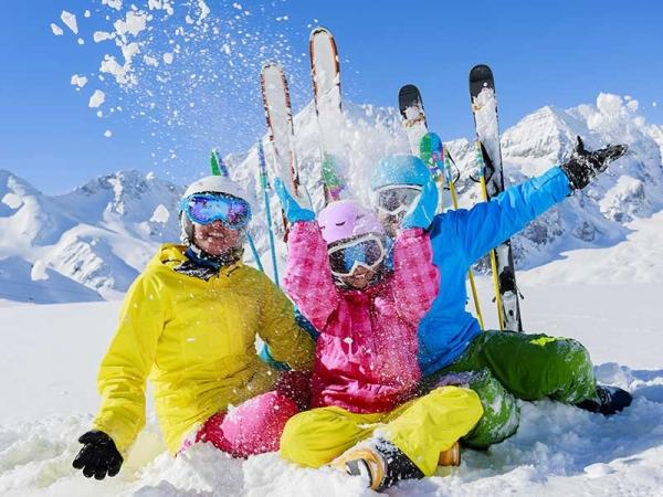 Skifahren - Familie